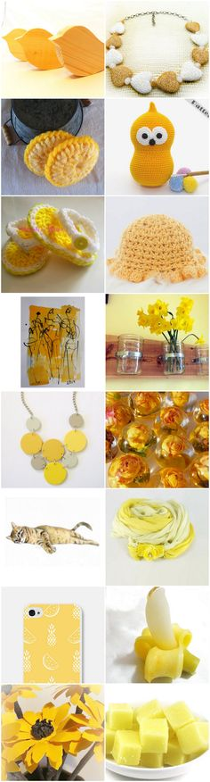 beautiful Etsy treasury~Hello Yellow banana candle barnwood wall vase bulk love birds cat portrait pet crochet sandals hat with ruffle heart necklace iphone case watermelon necklace scarf orange zingy paper flowers pastel dance promote my store rose caboshon sugar scrub cups wooden necklace yellow dish scrubber