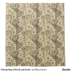 Vintage Map of North and South America (1640) Shower Curtain