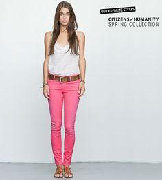 I'm loving hot pink pants...