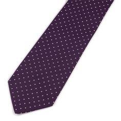 Purple Silk Foulard Neckties by Drakes London