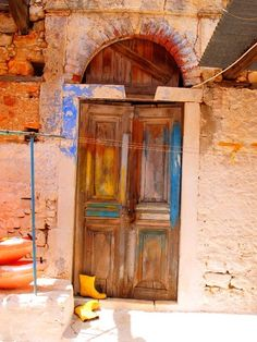 Colourful doorway in Kastellorizo Greece