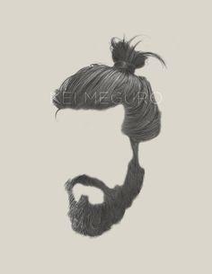 Hair, moustache and beard. Beard Styles For Men, Hair And Beard Styles, Long Hair Styles, Mens Hairstyles With Beard, Haircuts For Men, Man Bun Hairstyles, Beard Logo, Beard Art, Beard Styles