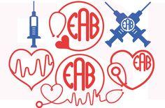 Nurse/Doctor monogram svg  Design set 2  by ESIdesignsdigital