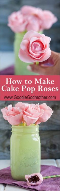 cake pop bouquet Your guests will enjoy these decadent cake pops! Customize these cake pops to match your party colors! Cake pops are great as a gift, party favor, table setting, or at Cake Pop Bouquet, Flower Cake Pops, Cake Pop Tutorial, Birthday Cake Pops, Wedding Cake Pops, Cake Pops How To Make, Decadent Cakes, Valentine Cake, New Cake