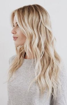 Platinum blonde hair color long hairstyles