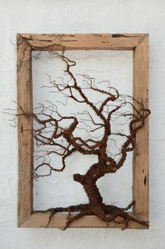'The Beauty Beneath' - Copper Wire Trees. Driftwood Projects, Driftwood Art, Wire Tree Sculpture, Sculpture Art, Diy Wall Art, Diy Art, Copper Wire Art, Picture Tree, Wire Trees