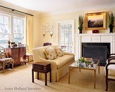 Benjamin Moore Philadelphia Cream - Anita Holland Interiors (potential master bedroom color)