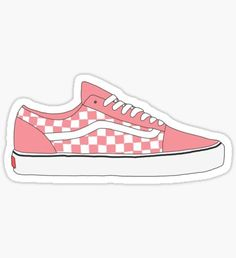 Regalos y productos: Pink Vans Stickers Cool, Preppy Stickers, Red Bubble Stickers, Tumblr Stickers, Printable Stickers, Laptop Stickers, Images Kawaii, Roses Tumblr, Homemade Stickers