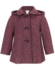 Baby Mimi Spot Coat   Purple   Monsoon