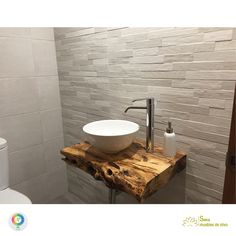 Discover recipes, home ideas, style inspiration and other ideas to try. Vintage Bathroom Sinks, Rustic Master Bathroom, Rustic Bathroom Designs, Diy Bathroom Vanity, Oak Bathroom, Vessel Sink Bathroom, Small Bathroom Storage, Downstairs Bathroom, Bathroom Interior