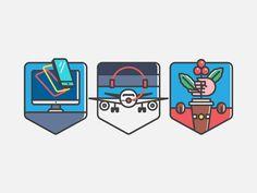Second Badges / www.raiseyourflag.com (Jump +, Air Canada +Philz Coffee)
