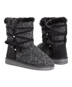 Muk Luks Black Camila Boot - Women | Zulily