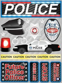 Reminisce POLICE 3-D LAYERED Stickers scrapbooking