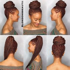 Try these protective hairstyles braids for your next hairstyle. Try these protective hairstyles braids for your next hairstyle. Box Braids Hairstyles, Braided Ponytail Hairstyles, Braided Hairstyles For Black Women, Braids For Black Hair, African Hairstyles, Protective Hairstyles, Girl Hairstyles, Protective Styles, Box Braids Updo