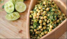 Ensalada de garbanzo y cilantro