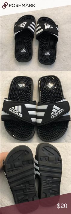 eefa58324 Adidas slip ons Boys size 2 toddler size 12 Adidas slip on sandals Boys  size 2 Barely worn-Great condition adidas Shoes Sandals   Flip Flops