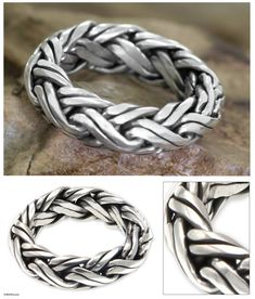 Men's Indonesian Sterling Silver Ring - Gallant | NOVICA