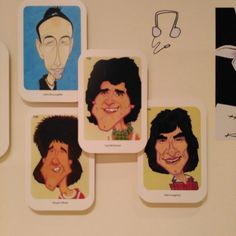 Rollers cartoonised  with John Mclachlin their manager.