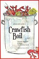 Crawfish boil imprintable invitation