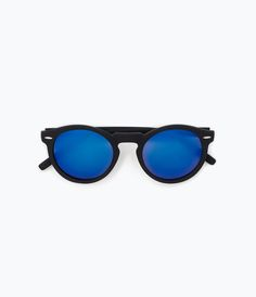 SUNGLASSES WITH TORTOISESHELL FRAME AND METALLIC ARMS from Zara