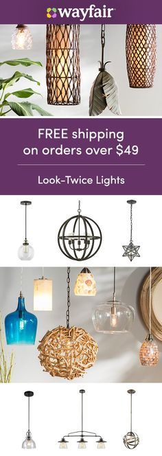 Lighting: Sign up for access to exclusive sales, all at up to 70% OFF! Save BIG on bright pendant lights for every space and every style. Our selection has everything you need to fall in love at first light. Enjoy FREE shipping on all orders over $49 at Wayfair.