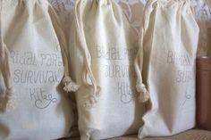 Bridal Party Survival Kits   Bridesmaids Maid of von thepaperynook, $14,99