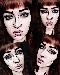 DIY Pop Art Makeup Halloween Costume Idea 8
