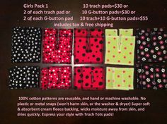 10 Trach pads. Stylish reusable fabric Trach pads for by TrachTots