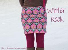 MIA - Schönes Selbstgemacht: RUMS - ein neuer 5 Minuten Rock Rum, Embroidery, Sewing, Knitting, Skirts, Blog, Fabric, Pattern, Fashion