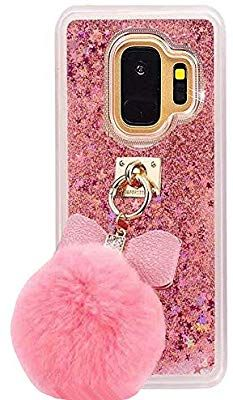 best loved a224c c119c Amazon.com: for Samsung S9 Case,BabeMall 3D Bling Flowing Glitter ...