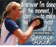 Image result for softball quotes by jennie finch