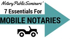 Get started as a Mobile Notary and earn more income! Check out our blog - The Notary Journal - on what a Mobile Notary should always remember while on the job.