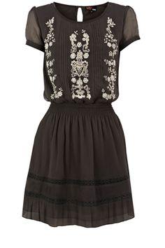 Embellished Drop Waist Dress