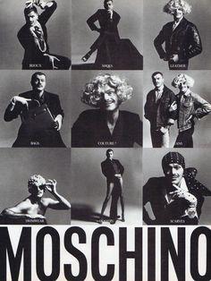90s Moschino advertising campaign. #moschino #editorial #magazine #vintage #fashion #advertisement