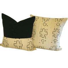 The worldly sophistication of this designer mud cloth pillow set will transform the look of your ordinary couch to extraordinary.