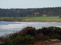 The Pebble Beach golf course - viewed from Scenic Dr in Carmel Pebble Beach, Golf Courses, Hiking, California, Sea, World, Water, Outdoor, Walks