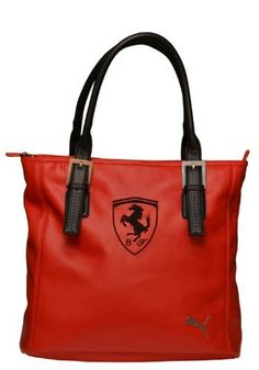 Amazon.com  Puma Ferrari Handbag Tote Bag Red  Travel Totes Luggage   Clothing df39022ae4