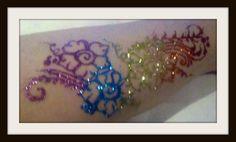freehand glitter tattoo