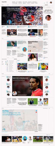 theguardian –– Digital Newspaper on Behance News Website Design, News Web Design, Modern Web Design, Web News, Website Ideas, Restaurant Web, Design Tattoo, Digital News, Journaling