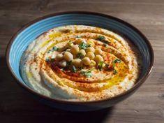 La auténtica receta de hummus de garbanzos y salsa tahini Tahini, Tapas, Kitchen Recipes, Veggies, Menu, Lunch, Healthy Recipes, Ethnic Recipes, Food