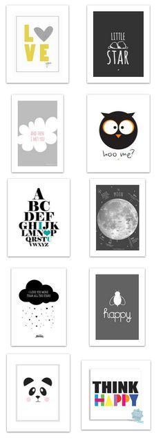 Poster à #imprimer pour Deco de #chambre d'enfant / #Noir / #Blanc / #Enfant…