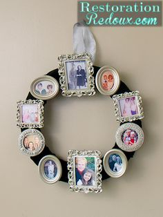 Hometalk :: Photo Frame Wreath