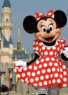 Minnie in her favourite red spotty dress