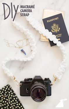 A tropical vacation calls for cute accessories. Here's how to make an adorable macrame camera strap.