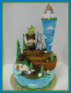 shrek and donkey cakes - Google Search