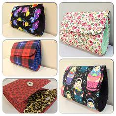Carteirinhas em Cartonagem.  www.facebook.com/Marydja www.coisasdemary.com.br Artesanato, tecidos, amor