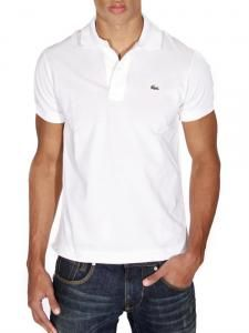 Plain white polo shirt. Goes with loads // Lacoste