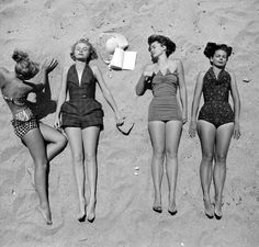 LIFE beach images 1950's
