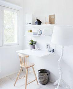 bureau escamotable blanc