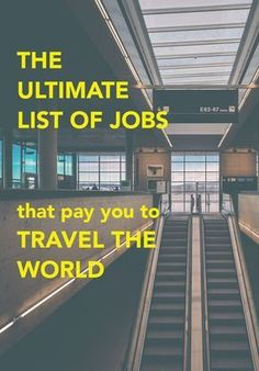 Do what you love with a TRAVEL job! This post lists 33 jobs you can work around … Do what you love with a TRAVEL job! This post lists 33 jobs you can work around the world that pay you to travel! Travel Jobs, Travel Blog, Work Travel, Budget Travel, Travel Careers, Travel Hacks, Cheap Travel, Travel Rewards, Shopping Travel